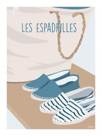 Affiche 30x40 - Espadrilles
