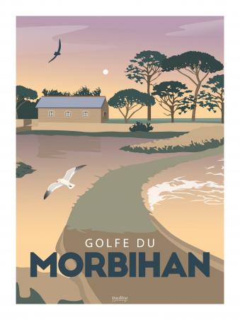 Affiche 30x40 - Golfe du morbihan