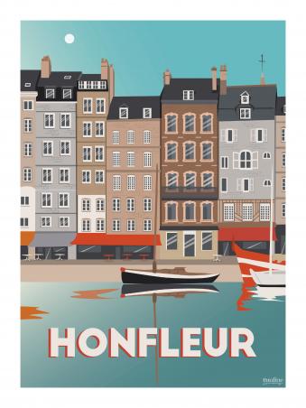 Affiche 30x40 - Holidays - honfleur