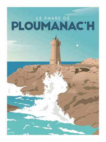 Affiche 30x40 - Holidays - le phare