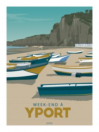 Affiche 30x40 - Holidays - yport