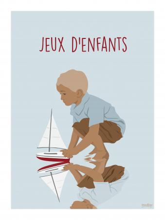 Affiche 30x40 - Jeux d'enfants