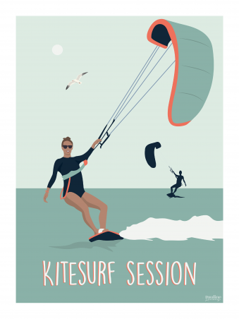 Affiche 30x40 - Kitesurf