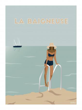 Affiche 30x40 - La baigneuse