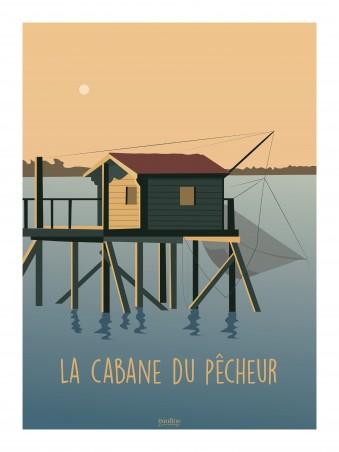 Affiche 30x40 - La cabane du pecheur