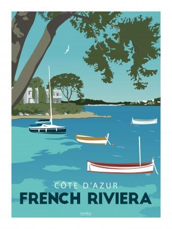 Affiche 30x40 - La french riviera