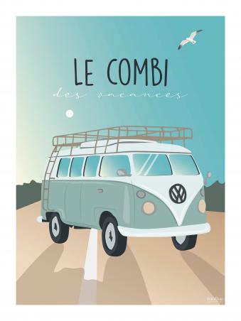 Affiche 30x40 - Le combi des vacances
