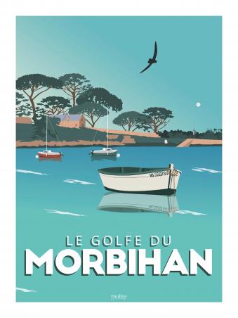 Affiche 30x40 - Le golfe du morbihan
