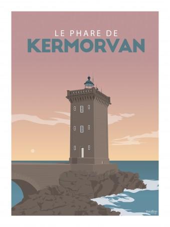 Affiche 30x40 - Le phare de kermorvan