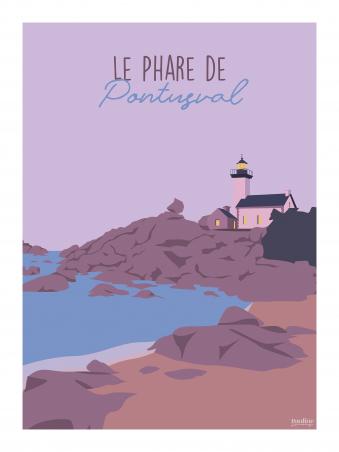 Affiche 30x40 - Le phare de pontusval