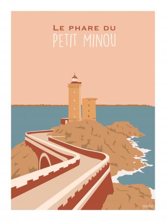 Affiche 30x40 - Le phare du petit minou