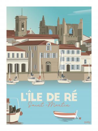 Affiche 30x40 - Le port de st martin