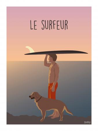Affiche 30x40 - Le surfeur