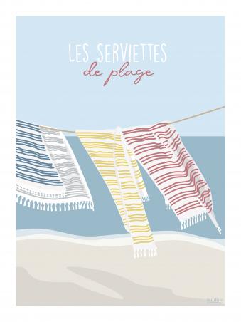 Affiche 30x40 - Les serviettes de plage