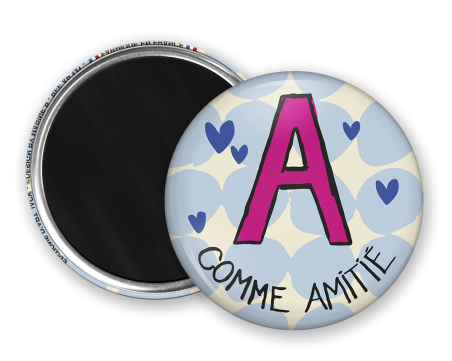 Magnet rond - Marine b - a comme amitie