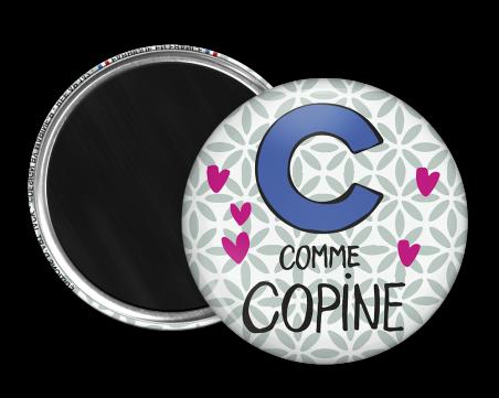 Magnet rond - Marine b - c comme copine