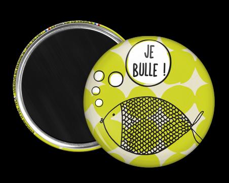 Magnet rond - Marine b - je bulle
