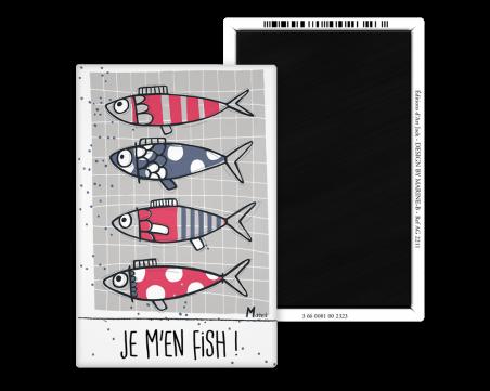 Magnet 55x80 - Marine b - je m'en fish