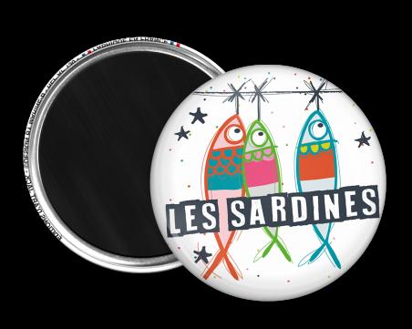 Magnet rond - Marine b - les sardines