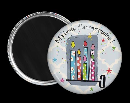 Magnet rond - Marine b - ma boite d'anniversaire