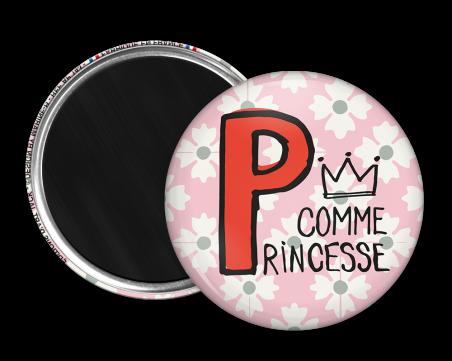 Magnet rond - Marine b - p comme princesse