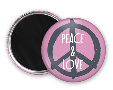 Magnet rond - Marine b - peace and love
