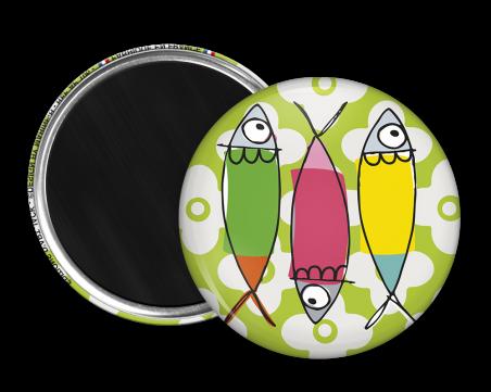 Magnet rond - Marine b - poissons