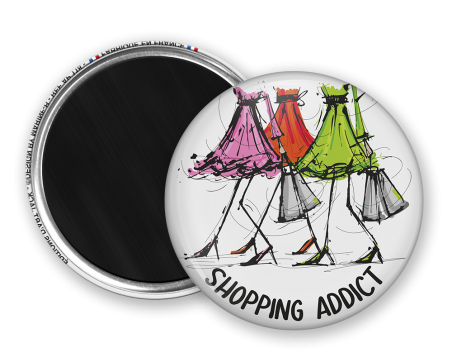Magnet rond - Marine b - shopping addict