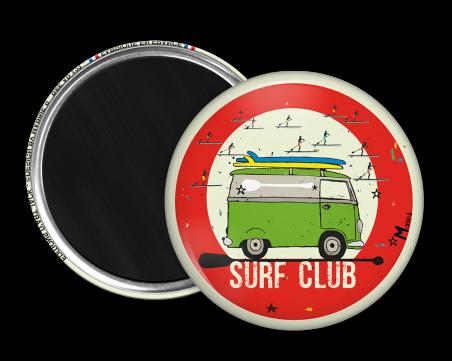 Magnet rond - Marine b - surf club