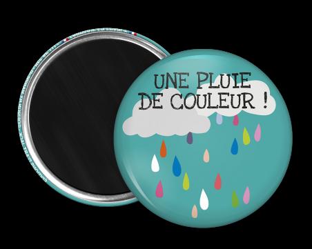 Magnet rond - Marine b - une pluie de couleur
