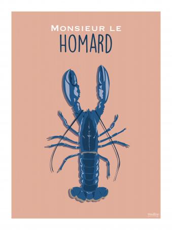 Affiche 30x40 - Monsieur le homard