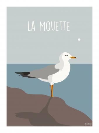 Affiche 30x40 - Mouette