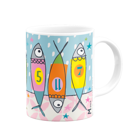 Mug - poissons numerotes