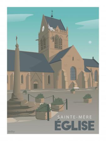 Affiche 30x40 - Sainte mere eglise