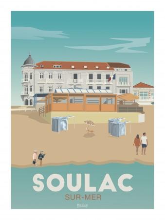 Affiche 30x40 - Soulac sur mer