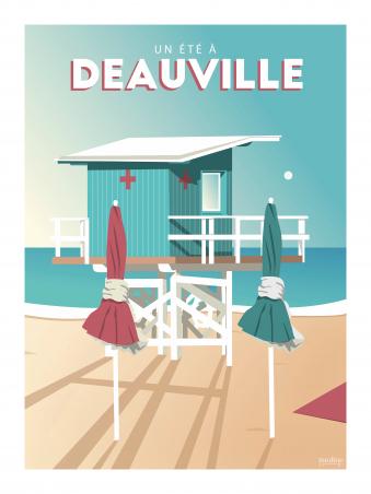 Affiche 30x40 - Un ete a deauville