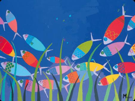 Sets plastifies - Marine b - banc de poissons