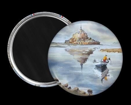Magnet rond - Benoit - le mont saint michel